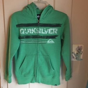 Boys Quicksilver zip up hoodie